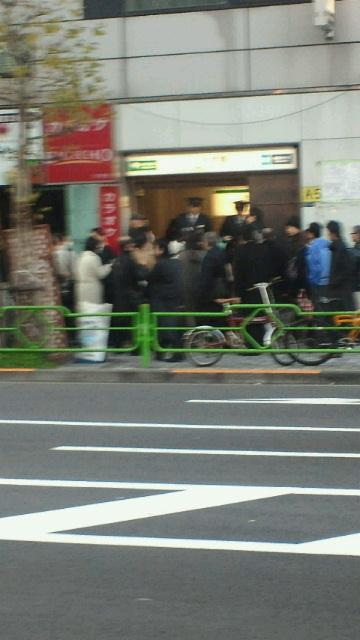 【地震】水天宮前駅付近
