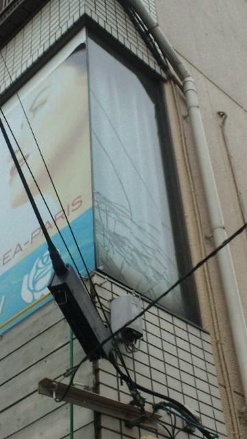 【地震】深川で〜ガラスにひび